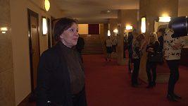 Lenka Termerová na premiéře hry Misery.