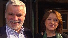 Zlata Adamovská a Petr Štěpánek po úspěšné premiéře.