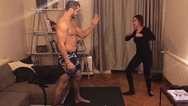 Monika Bagárová se pokusila o trénink s přítelem.