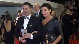 Martin Dejdar s manželkou na karlovarském filmovém festivalu