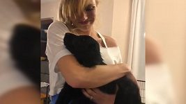 Gabriela Koukalová se psem