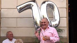 Exmanažer hvězd Tomáš Gottlieb slavil 70. narozeniny.