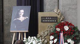 Pohřeb baletky Evy Horákové