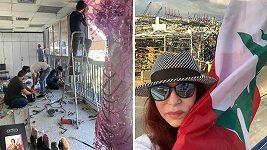 Blanka Matragi zasílá zprávy ze zničeného Bejrútu.