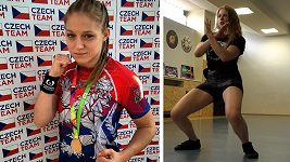 Sandra Mašková MMA zápasnice twerkuje
